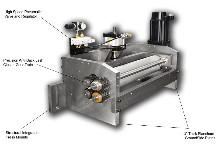 MX-300 Series Servo Roll Feed Head Assembly: View One