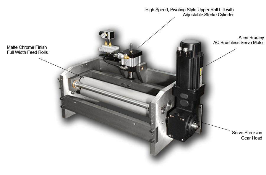 MX-300 Series Servo Roll Feed Head Assembly: View Two